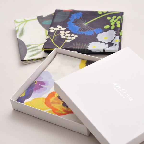 chihiro yasuhara / ハンカチ flower garden(ギフトBOX入)