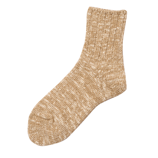 ROTOTO / LOW GAUGE SLUB SOCKS BEIGE