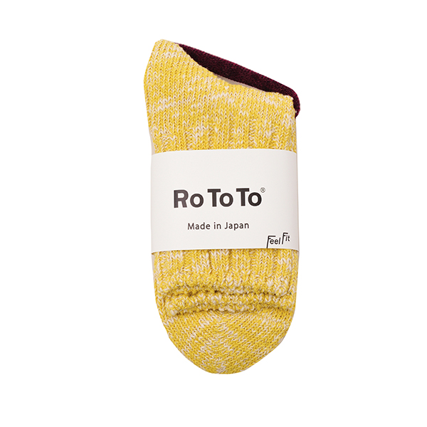 ROTOTO / LOW GAUGE SLUB SOCKS LIME