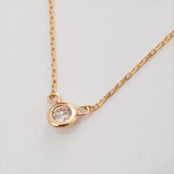 MANISTA / Lip(リップ)K10ダイヤモンドネックレス Tiny Initial Diamond