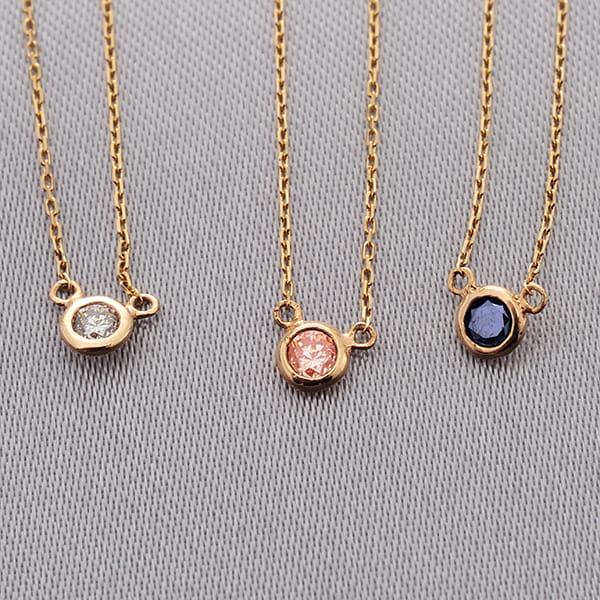 MANISTA / Lip(リップ)K10ダイヤモンドネックレス Tiny Initial Brown Diamond