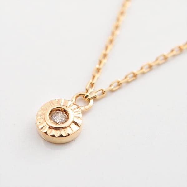 MANISTA / Lip(リップ)K10ダイヤモンドネックレス Tiny Motif サークル