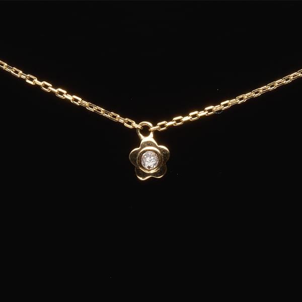MANISTA / Lip(リップ)K10ダイヤモンドネックレス Tiny Motif フラワー