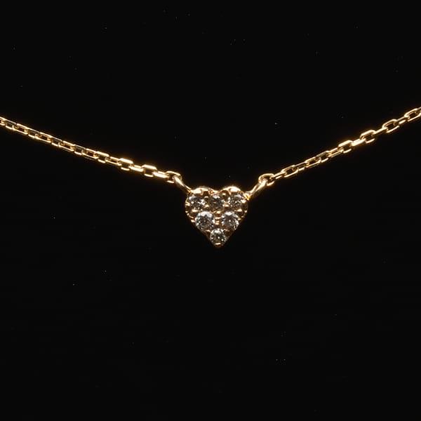 MANISTA / Lip(リップ)K10ダイヤモンドネックレス Tiny Motif ハート