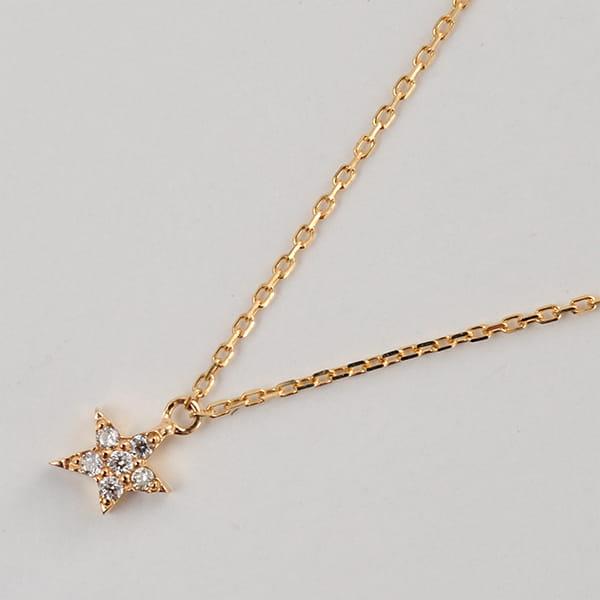 MANISTA / Lip(リップ)K10ダイヤモンドネックレス Tiny Motif スター