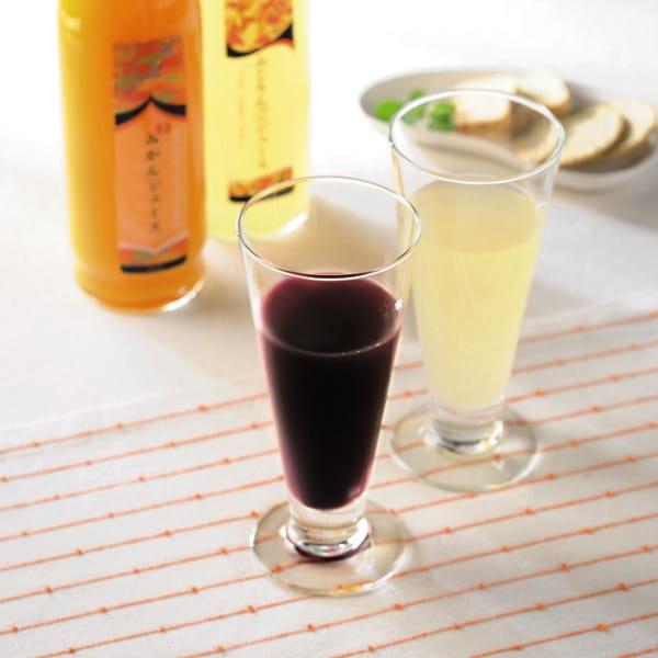 長野県産果実100%ストレートジュース2本セット(ぶどう・白桃)*