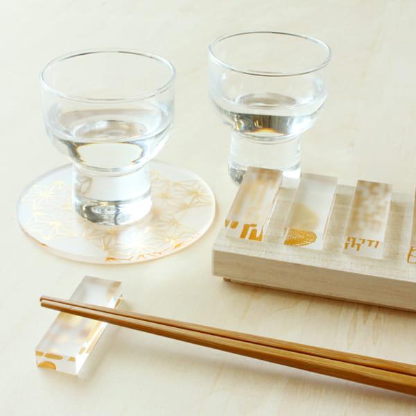 toumei / 箔 hashioki 木箱入り5個セットい