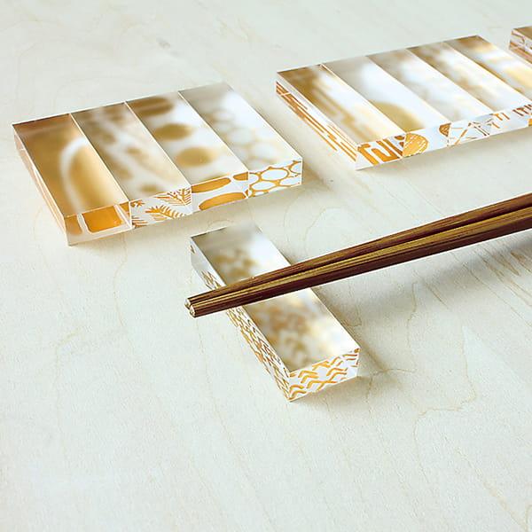 toumei / 箔 hashioki 木箱入り5個セットろ