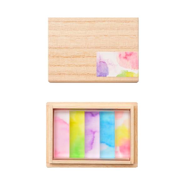 toumei / あわいろ hashioki 木箱入り5個セット