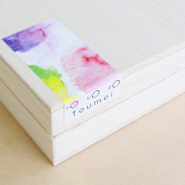 toumei / あわいろ coaster 木箱入り4枚セット