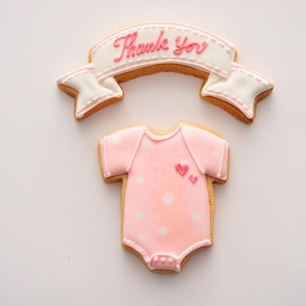 アイシングクッキー ロンパース(ピンク)詰合せ (Thankyou)