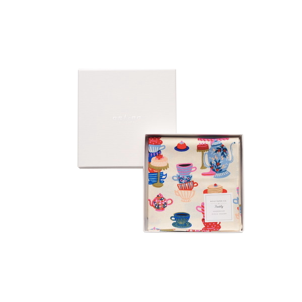 Rifle Paper / ティーパーティ(ホワイト) ハンカチクロス BOX入