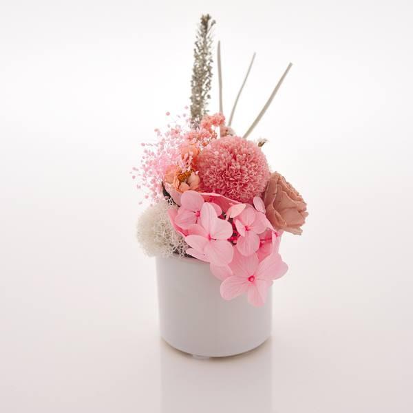 antina×アトリエみちくさ / プリザーブドフラワーお供花ピンク系(S)