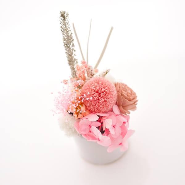 日本香堂 / 瑞雲 桐箱入り・プリザーブドお供え花 ピンク(S) セット