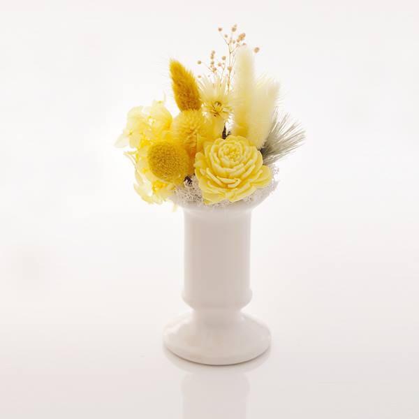 antina×アトリエみちくさ / プリザーブドフラワーお供花イエロー系(M)