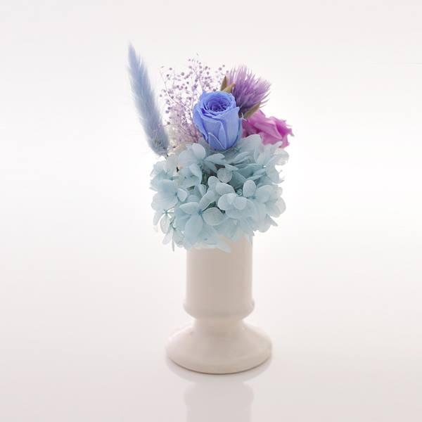 antina×アトリエみちくさ / プリザーブドフラワーお供花ブルー系(M)