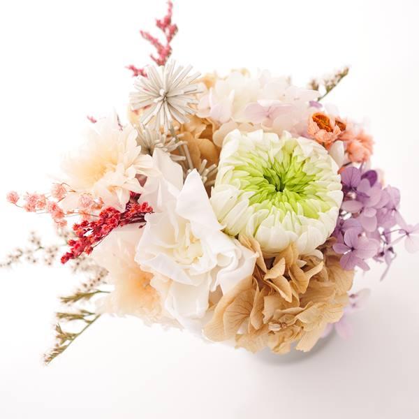 櫨ろうそく GIFTBOX・プリザーブドフラワー お供花(L) セット