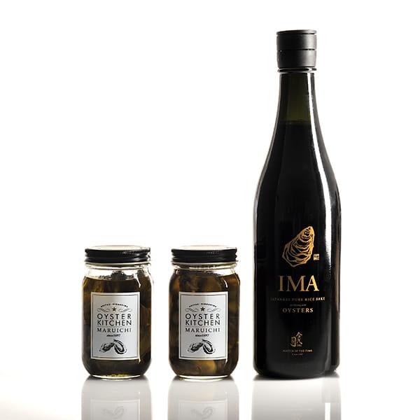 2020年父の日限定セットA(牡蠣オリーブオイル漬け・日本酒・バッグ)