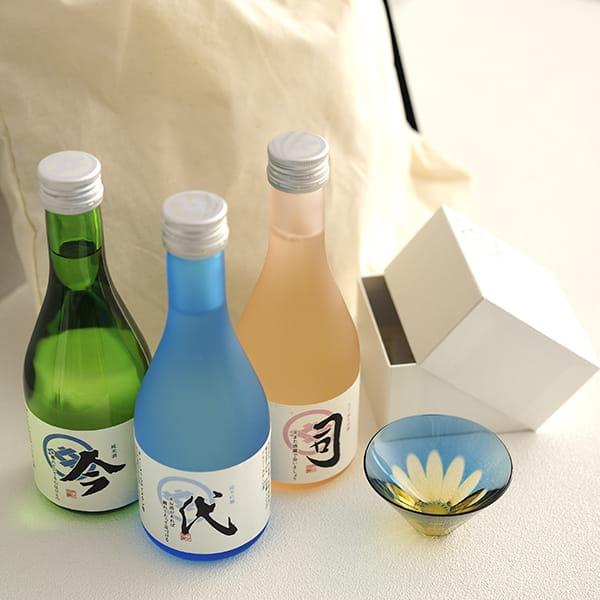 2020年父の日限定セットD(ソーシャルディスタン酒(シュ)セット・ぐい呑み逆さ富士・バッグ)※6/20~6/21にお届けします。