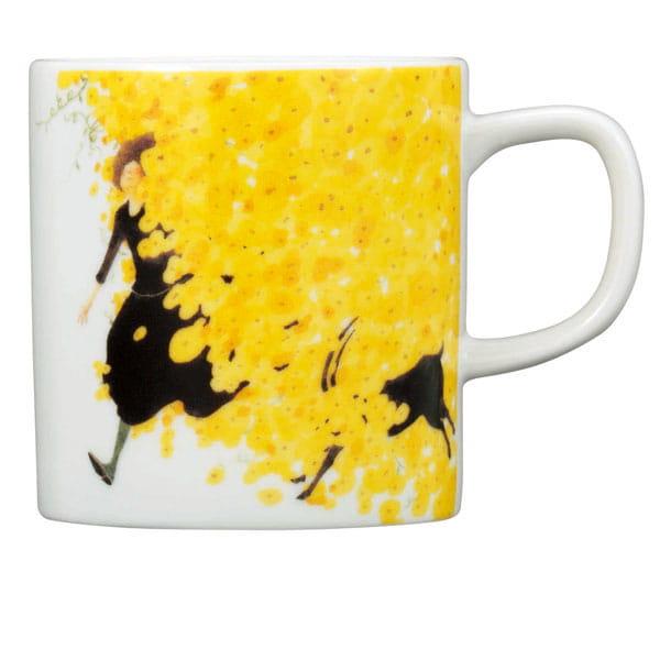 &MO'design / プレート&マグカップセット(黄色い森)