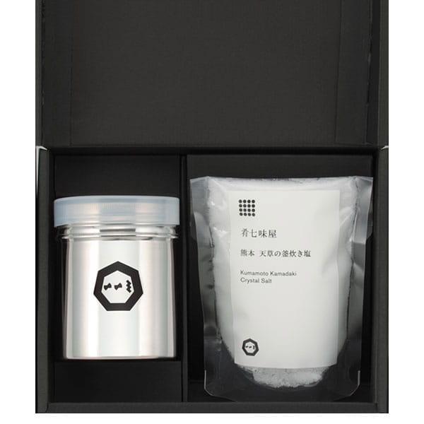 肴七味屋(ななみや) 熊本天草の釜炊き塩セット