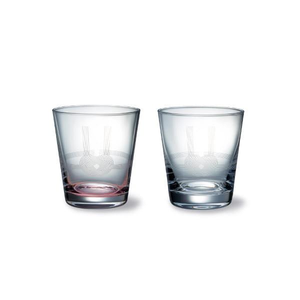 木本硝子 / MIZUHIKI あわじ結(S)紅白2個セット