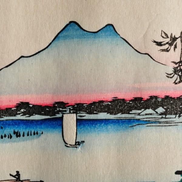 江戸木版画 歌川広重 名所江戸百景 隅田川水神の森真崎