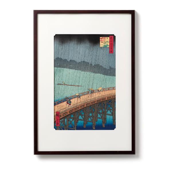 江戸木版画 歌川広重 名所江戸百景「大はしあたけの夕立」