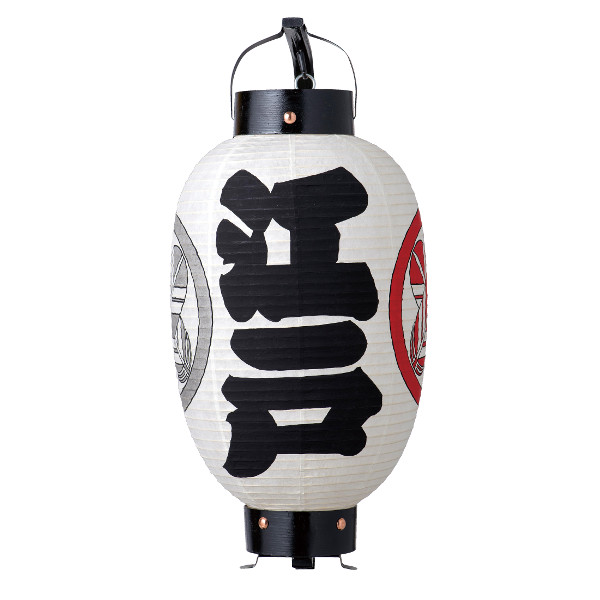 江戸手描提灯 / 御用形弓張り提灯「江戸・白」
