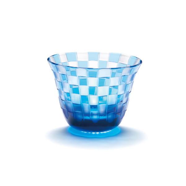 中金硝子 / 市松(ブルー)