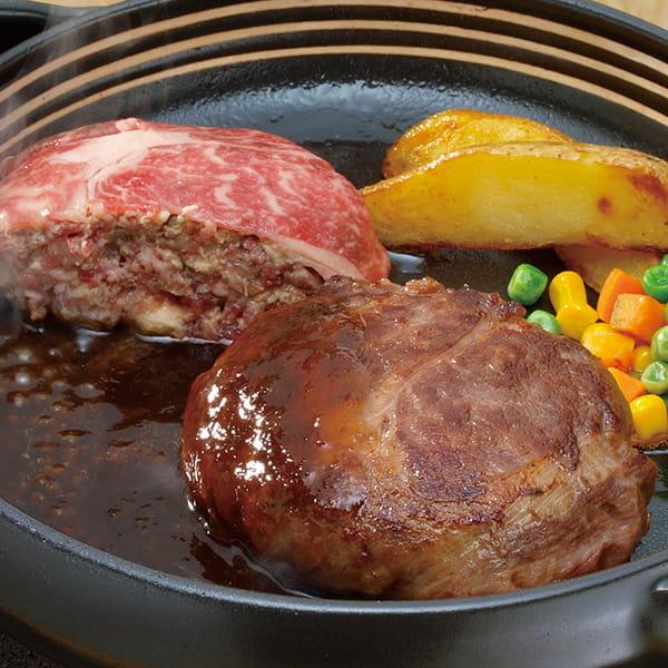 肉の山本 / 北海道産牛 霜降りハンバーグ 6個セット*
