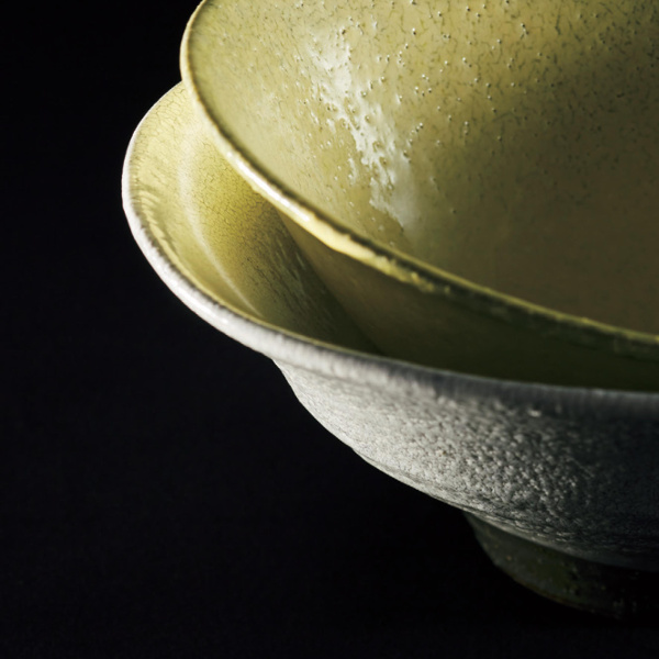作山窯 / 黄かいらぎ 中鉢