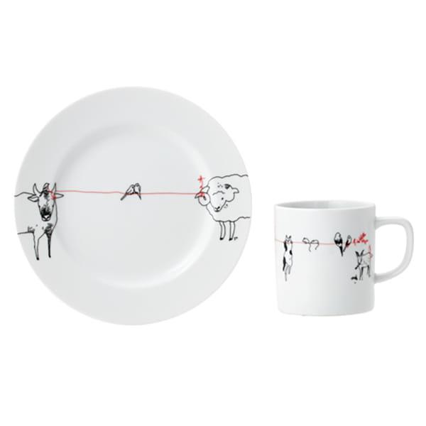 &MO'design / プレート&マグカップセット(赤い糸)