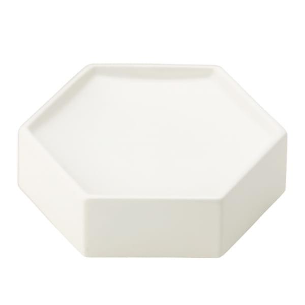 ポトペリー / 六角トレイ(ホワイト)