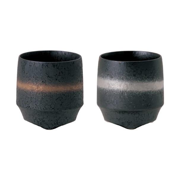 KIHARA / 香酒盃 ぐい呑晶金帯・晶銀帯2ヶセット