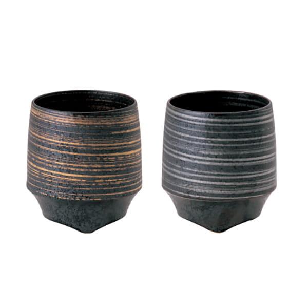 KIHARA / 香酒盃Lサイズ 晶金かすり・晶銀かすり 2ヶセット