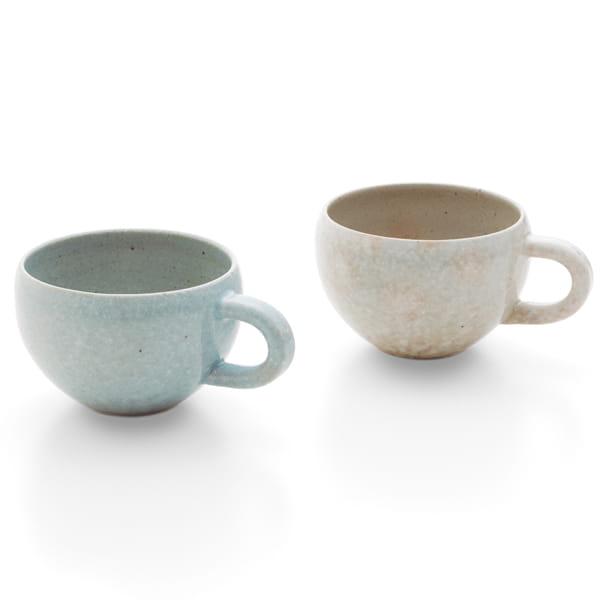 作山窯 / 二色丸型 ペアマグカップ
