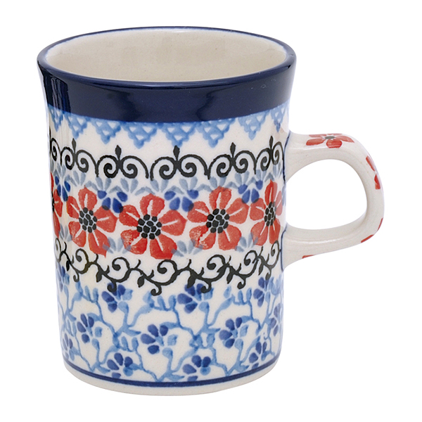 セラミカ / レッドフラワー マグカップ(カップ7.8cm)