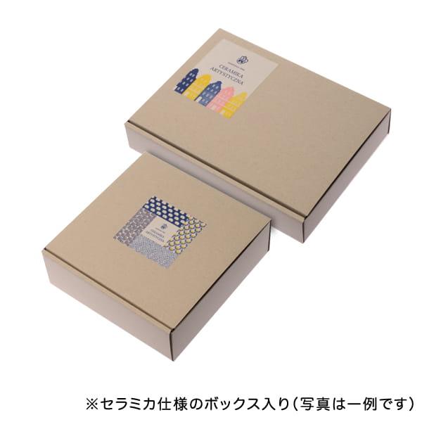 セラミカ / レッドフラワー 小判型ボウル(21cm)