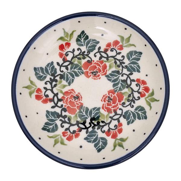 セラミカ / レッドローズ 小皿(10cm)