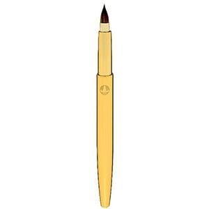 Takeda Brush / 熊野筆 携帯用リップブラシ ラウンド柄(ゴールド)