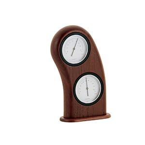 ササキ工芸 / スマイル温湿度計(ウォルナット)