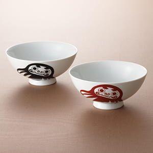 柳櫻窯 / 茶碗ペア(ダルマ)