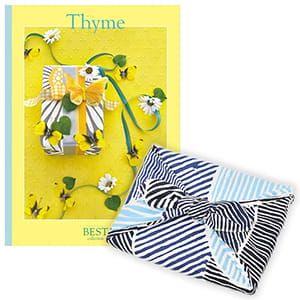 <風呂敷包み> 選べるギフト ベストコレクション <タイム Thyme+風呂敷(こはれ ねんりん ブルー)>