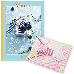<風呂敷包み> 選べるギフト ベストコレクション <ムスカリ Muscari+風呂敷(こはれ ねんりん ピンク)>