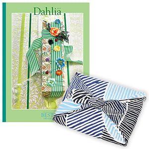 <風呂敷包み> 選べるギフト ベストコレクション <ダリア Dahlia+風呂敷(こはれ ねんりん ブルー)>