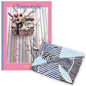 <風呂敷包み> 選べるギフト ベストコレクション <カモマイル|Chamomile+風呂敷(こはれ ねんりん ブルー)>