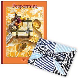 <風呂敷包み> 選べるギフト ベストコレクション <ペパーミント Peppermint+風呂敷(こはれ ねんりん ブルー)>