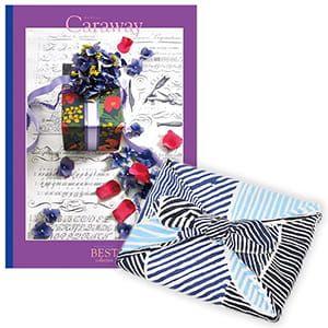 <風呂敷包み> 選べるギフト ベストコレクション <キャラウェイ|Caraway+風呂敷(こはれ ねんりん ブルー)>