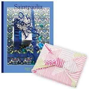 <風呂敷包み> 選べるギフト ベストコレクション <セントポーリア Saintpaulia+風呂敷(こはれ ねんりん ピンク)>